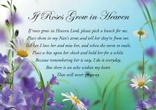 A5 Quality Memorial Bereavement Card to remember a lovely Nan on her Birthday