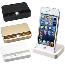 For iPhone SE 6 Portable USB Data Sync Cradle Charger Dock Charging Station Gold