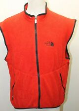 Vintage North Face Fleece Red Vest Men Made In USA Medium Layering Winter