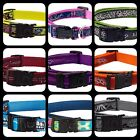 Rogz Dog COLLAR Fabric Nylon Side Release Lock - Choice of Colours and Sizes