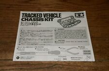 2001 Tracked Vehicle Chassis kit Model sheet Tamiya Instructions Only Rare 70108