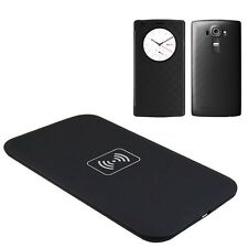 Qi Wireless Charger Charging Pad+Quick Circle Leather Skin Case Cover for LG G4
