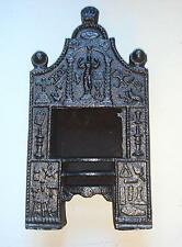 18th Century Miniature Cast Iron Fireplace with Masonic Symbols