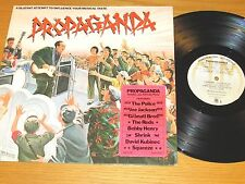 """PROMO 70s ROCK LP - VARIOUS ARTISTS - A&M 4786 - """"PROPAGANDA"""" with POSTER"""