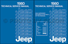 1980 Jeep Repair Shop Manual CJ5 CJ7 Cherokee Wagoneer Truck Renegade Laredo