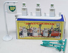MATCHBOX #A-1 BP GARAGE PUMPS & SIGN NEAR MINT W/ EXC BOX