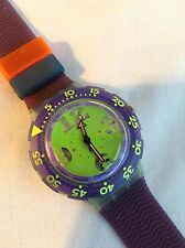 Rare Vintage Men's Swatch Scuba Diving Watch SDN 103 Spray Up 1992 BNIB