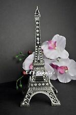 "7"" Eiffel Tower Statue Sculpture Paris Decor Metal Wedding Supplies Rhinestones"