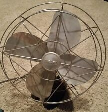 Vintage WIZARD 1003J Art-Deco Cast-Iron Base 60-Cycle Electric Fan BERSTED MFG.