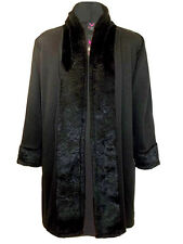 New Ladies Size 26 28 Captive black faux fur trim cardigan jacket