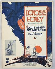 1921 Sheet Music Honolulu Honey Hawaii Ferera & Franchini Weslyn Applefield