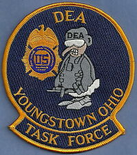 DEA YOUNGSTOWN OHIO DRUG ENFORCEMENT TASK FORCE POLICE PATCH