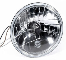 "H4 5-3/4"" Verre transparent Phare pour Harley Suzuki Yamaha Type universel ECE"