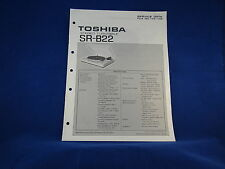 Toshiba SR-B22 Stereo Turntable Service Manual