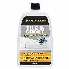 Dunlop TILE & GROUT CLEANER 1L Concentrated, Removes Dirt, Grim & Oils USA Brand