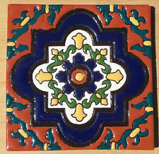 """12~Talavera Mexican tile pottery hand painted 6"""" hand made HIGH RELIEF"""