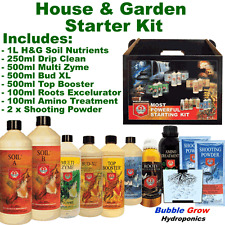 H & G SOIL KIT (MULTI ZYME BUD XL TOP BOOSTER ROOTS EXCELURATOR SHOOTING POWDER)