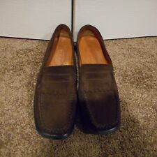 TOD'S ladies brown suede flats loafers EXCELLENT 8.5
