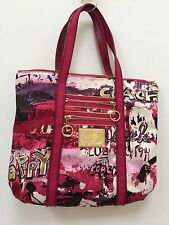 Coach RARE Poppy Script Graffiti  Glamour Tote large bag #14987 EUC