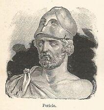 A7486 Pericle - Stampa Antica del 1929 - Xilografia