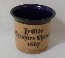 Royal Doulton Ye Olde Cheshire Cheese 1667 Advertising Stoneware Toothpick Cup