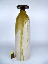 Studio Keramik Vase Objekt H. 36cm • German Art Pottery Max Zwissler Schweiz