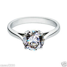 2 CT ROUND SOLITAIRE VINTAGE SYNTHETIC SONA DIAMOND ENGAGEMENT RING SILVER