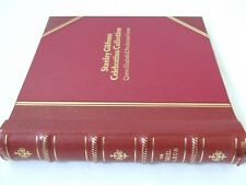 STANLEY GIBBONS ORIEL LEATHER BOUND ALBUM & QE PRE-DECIMAL LEAVES,EXCELLENT COND