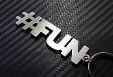 HASHTAG FUN #fun Funny Party Keyring Keychain Bespoke Stainless Steel Gift