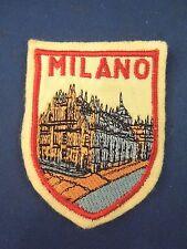 Vintage Panorama Piazza del Duomo Milano Italy Souvenir Felt Patch