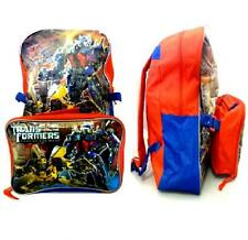 TRANSFORMERS CHILDRENS BACKPACK RUCKSACK + LUNCH BAG SET OPTIMUS BUMBLEBEE 09717