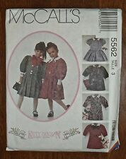 McCALL'S PATTERN #45562 - KITTY BENTON BELTED SCHOOLGIRL DRESS - GIRLS 3 - UNCUT