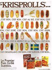 Publicité Advertising 1991 Le Pain grillé Suèdois Krisprolls