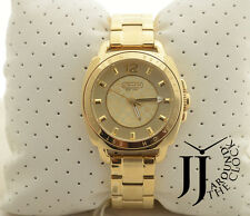 New COACH Boyfriend Gold Tone Bracelet Watch 14501534