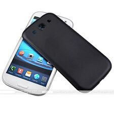 Black PU Leather Replace Battery Back Door Cover Case For Samsung Galaxy S3 New
