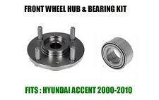 Fits:Hyundai Accent Front Wheel Hub And Bearing Kit Assembly 2000-2010