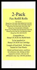 2-pack of UX-3CR Fax Refill Rolls for Sharp UX-300 UX-300M UX-305 UX-310 UX-320