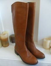 Guess TAN BROWN IN PELLE BORCHIE STIVALI AL GINOCCHIO EQUITAZIONE US 7m uk5