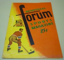 Original 1957-58 NHL Montreal Canadiens VS Boston Bruins Hockey Program