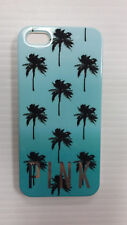 Victoria's Secret PINK Palm Tree IPhone 5 5S Flexible Hard Case Cover Blue Ombre