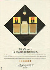 Publicité Advertising 1982  Teint velours fond de teint de YVES SAINT LAURENT