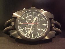 Android AD430 Hydraumatic Chronograph Watch CUSTOM Stealth Black Rare