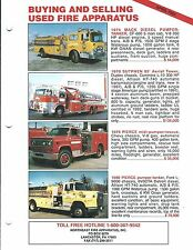 Fire Equipment Brochure - Northeast - 1970's era Used Models For Sale (DB287)