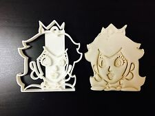 PRINCESS PEACH-SUPER MARIO BROSS-UK Venditore PLASTICA BISCOTTI COOKIE CUTTER fon