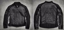 Mens Harley Davidson Willie G Skull Mesh Motorcycle Jacket XL X-Large 98092-15VM