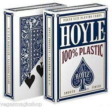 Hoyle 100% Plastic Blue Deck Playing Cards Poker Size USPCC Smooth Finish Sealed