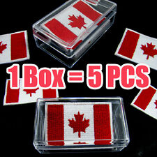 Canada Flag Embroidered Patch Canadian Iron On National Emblem ( 1 Box = 5 Pcs )