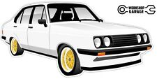 Ford Escort RS2000  MK 2 - 4Door - White with Gold Simmons