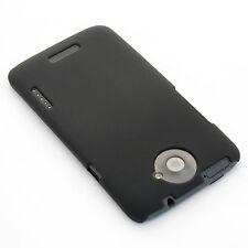 Hard Case gummiert Tasche Schutz hülle Backcover für HTC One X / XL matt schwarz