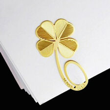 Four-leaf Plated Clip Metal Bookmark Clover Bookend Gift Kid Reading Gold2.2*4cm